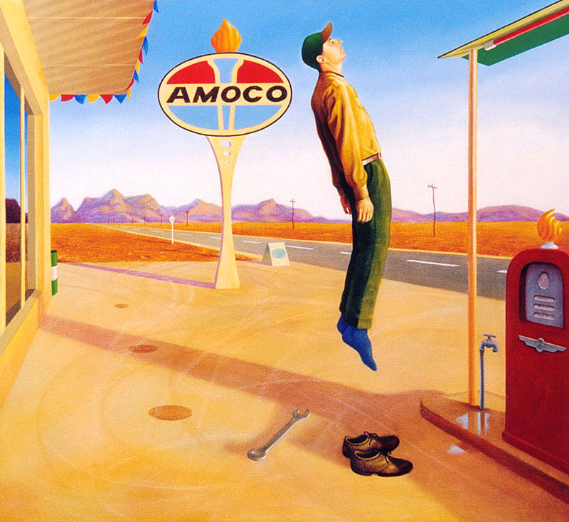 Flight of the Amoco man