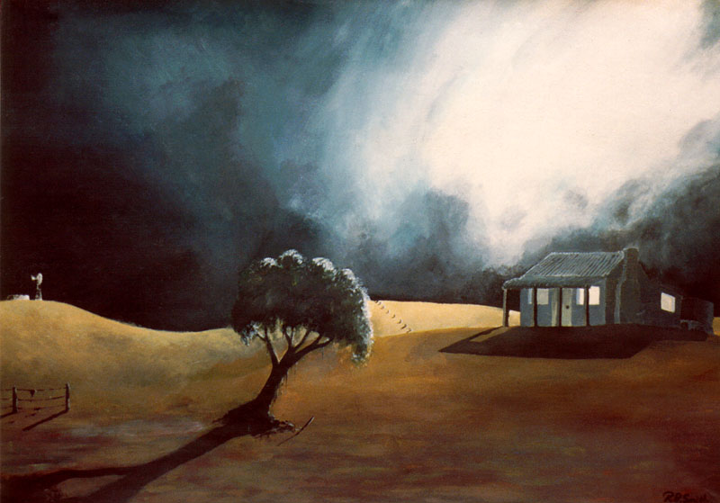 'house in a storm' (first painting)