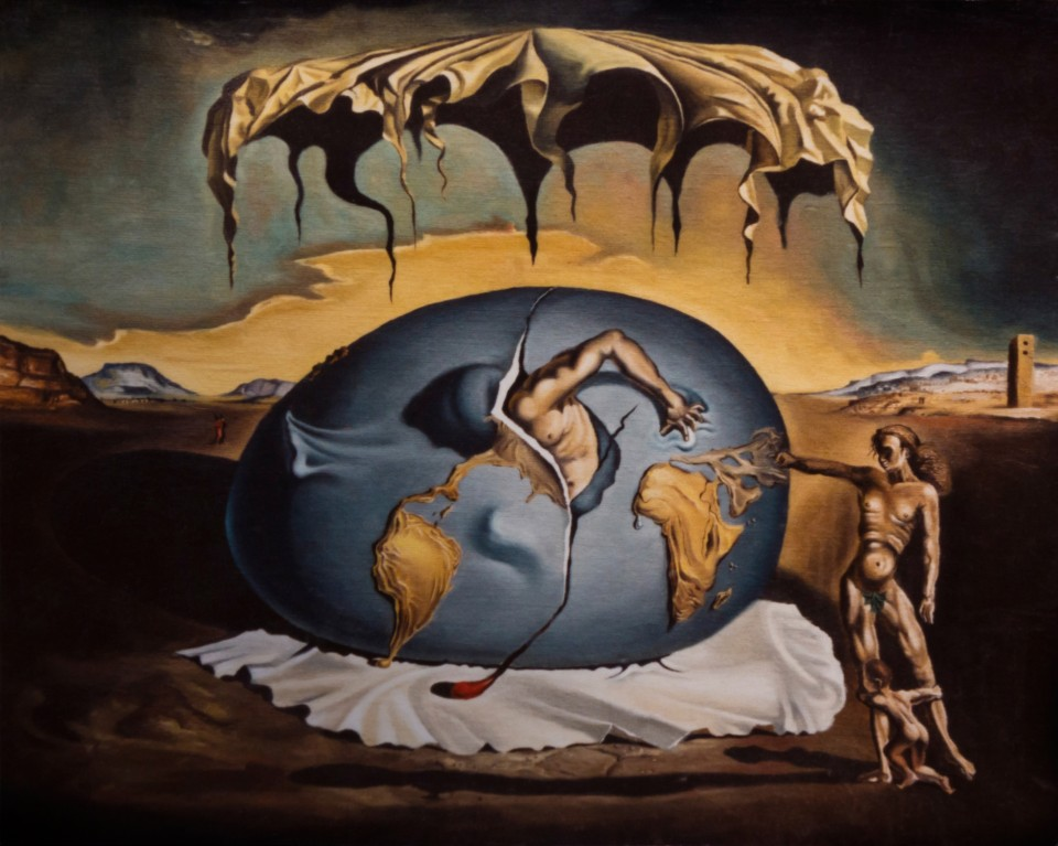 Copy after Dali_Geopoliticus Child Watching The Birth Of A New Man